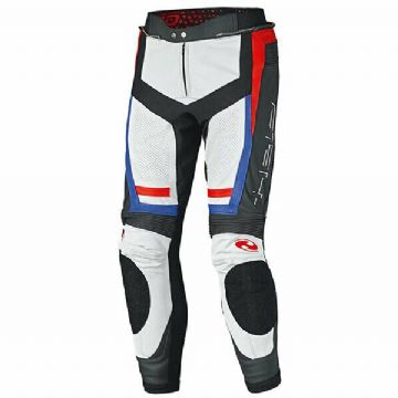 Held Rocket 3 Leather Motorcycle Motorbike Jeans Pants Black White Red Blue